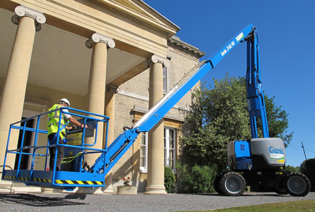Genie boom assists with inspection on Grade II listed manor house
