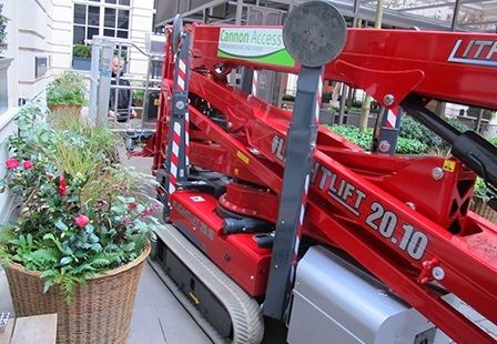 Emissions-Free & Quiet Hinowa Boom Lift Required For Top London Hotel