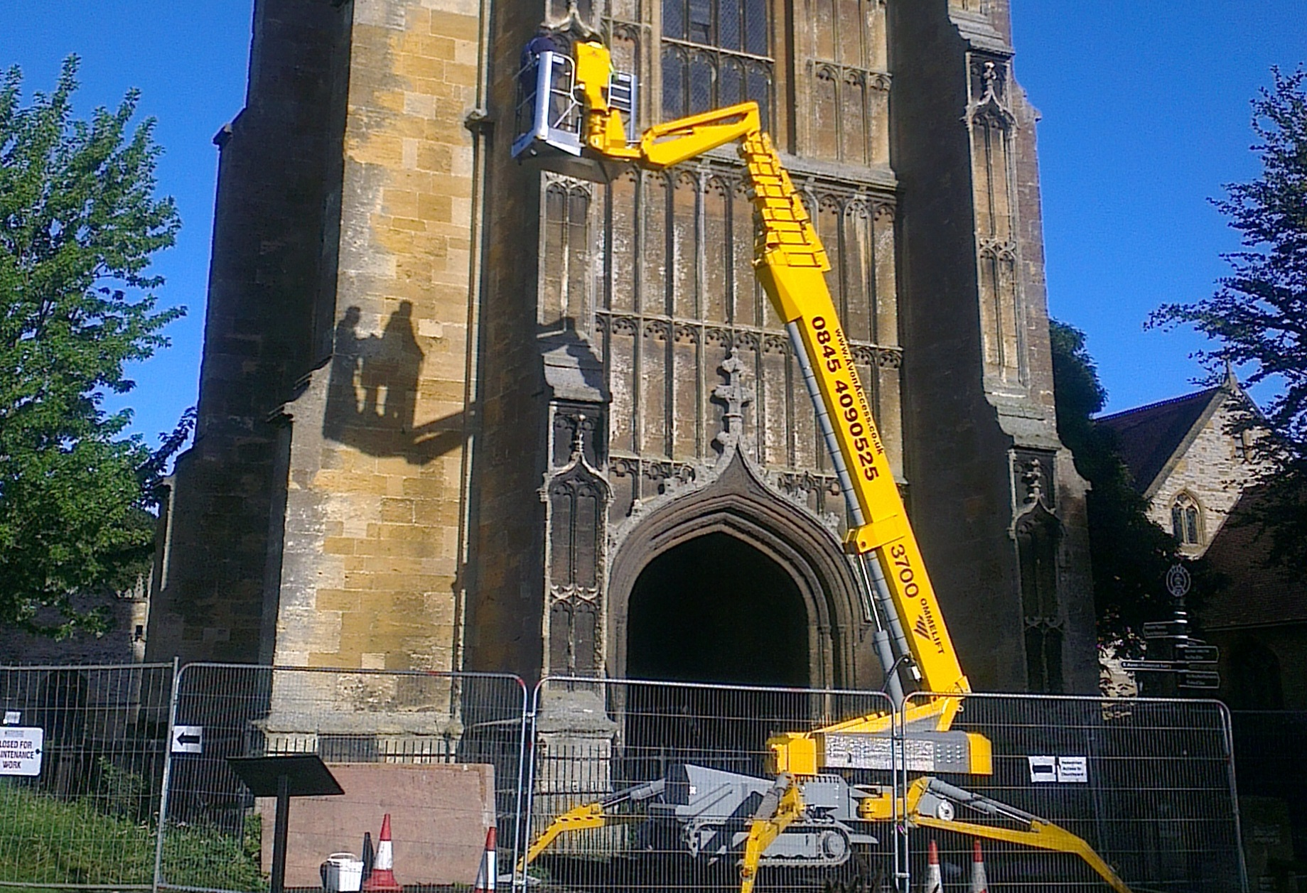 Spider Lift Assists With Inspection & Repair on Grade II Listed Evesham Abbey