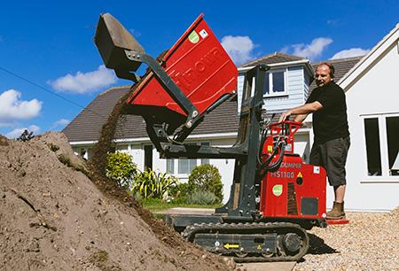 Hinowa mini-dumper makes light work for Dorset landscaping company