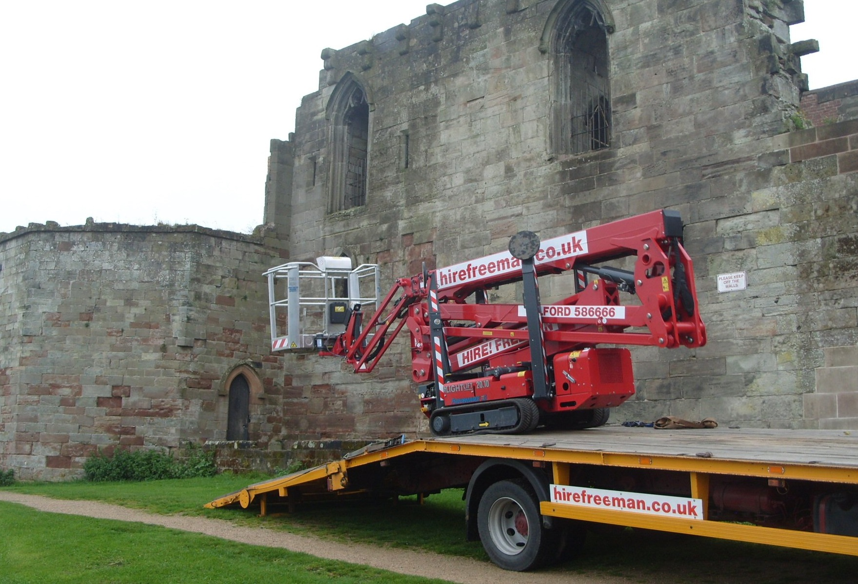 Stafford's Historic Castle Uses Hinowa Boom under tricky conditions