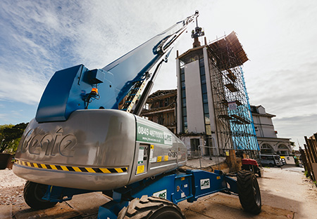 Big Genie boom helps safely and efficiently carry out a demolition job