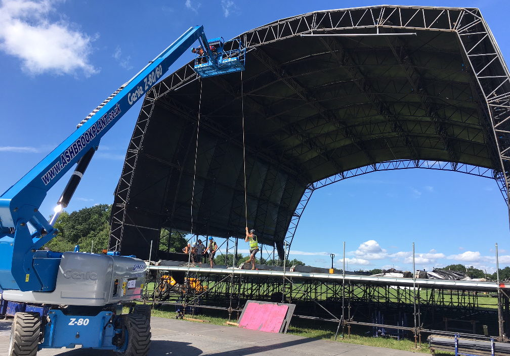 Versatile Genie articulated boom lifts used for work at height within the events industry