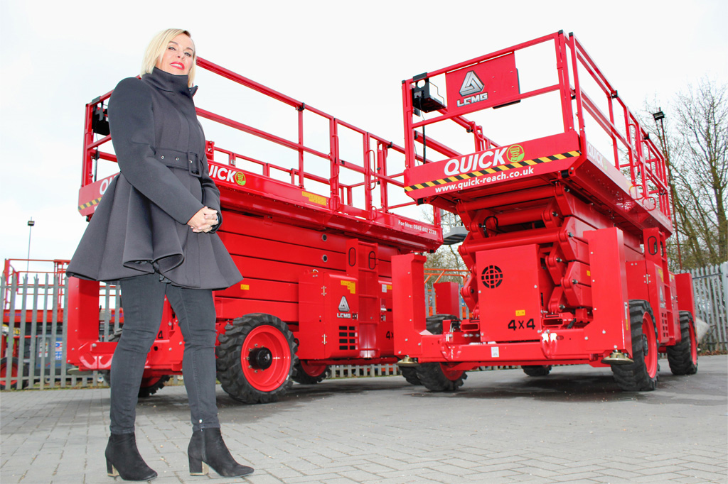 Quick Reach selects LGMG scissor lifts for design advantages