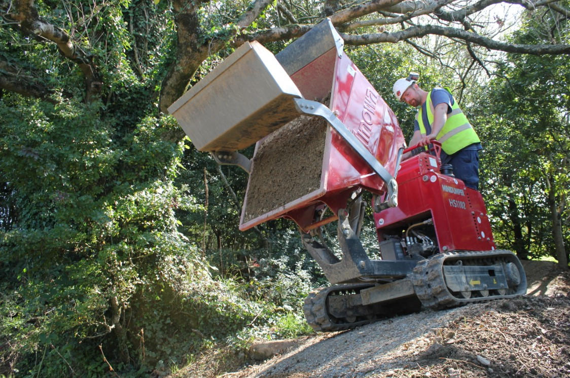 Video case study - Hinowa HS1102 mini dumper gives pedal power a productivity boost
