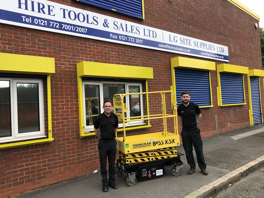 Prize scissor lift goes straight out on hire