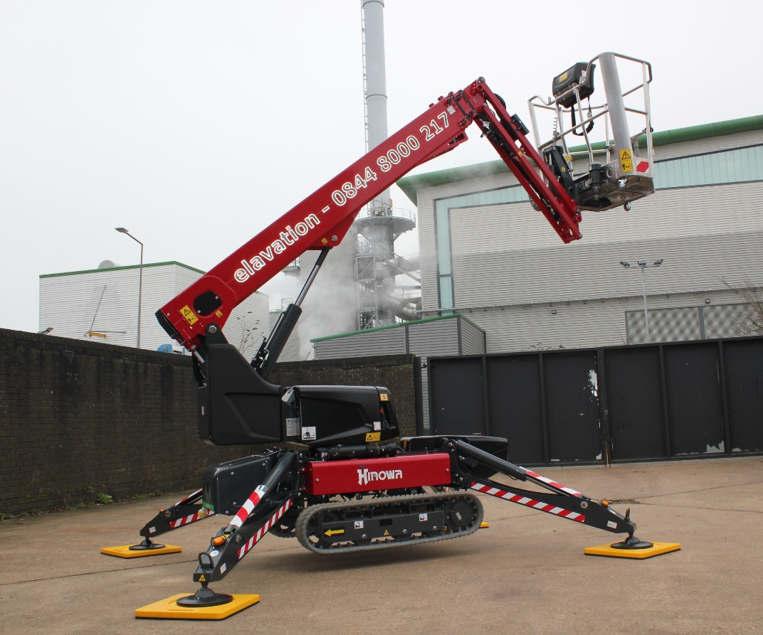 The Hinowa TeleCrawler13 spider platform – designed for working at height in the most confined spaces