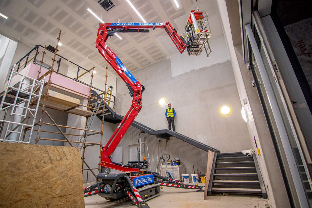 APS Hinowa Lightlift spider boom on building site