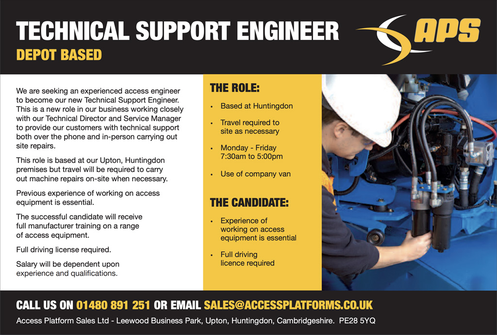 Technical Support Engineeer Vacancy