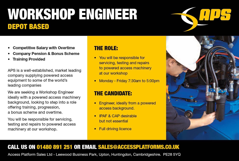 Workshop Engineer Vacancy